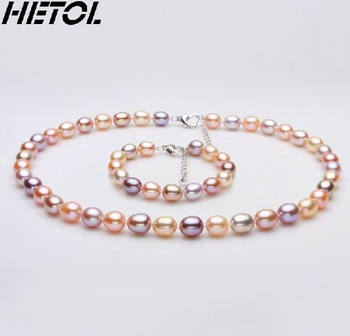 Free Shipping Quality goods collection gift bead perfect top m nearly 9 -- 10 mm natural pearl necklace