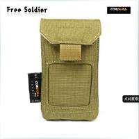 Outdoor edc accessories bag small waist pack mobile phone bag cordura fabric Color:Black/ACU/Mud Color Size:13*7.5cm*2.5CM