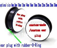 [Min order $20] Custom-made ear plug with -o -rings Flesh  tunnel body jewelry MJEPDZ0238