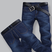 Spring male jeans slim straight ultra elastic jeans male trousers 569