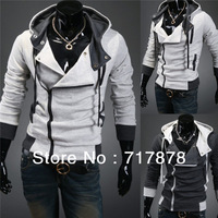 New Casual Assassin's Creed 3 Desmond Miles Hoodie Coat Jacket Cosplay Zipper Freeshipping