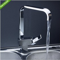 Free shipping Chrome Single Lever Bathroom Kitchen Sinks Swivel Basin Faucet Mixer Tap TT12