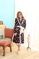 Herfair coral fleece robe Pajama Sets sleepwear nightgown