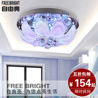 Modern fashion resolved lighting multicolour crystal ceiling light led entrance lights circle 85
