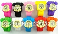 free & drop shipping 10pcs wholesale new fashion hot sales cute cartoon mickey kids gifts quartz silicone Clap wrist watch