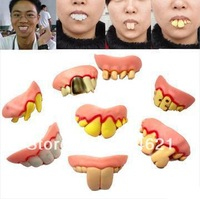 Wholesale! 30Pcs/lot Terrible Funny Goofy Fake Rotten Teeth Halloween Party Favor Creepy Dentures Free Shipping