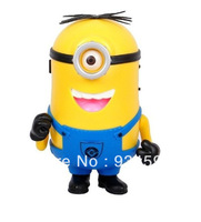 1pcs/lot Despicable Me 2 mini speaker support U-disk and TF card with FM radio portable audio player Christmas gift.