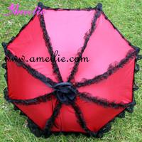 Free Shipping Red Lolita Gothic Sun Parasols Umbrella