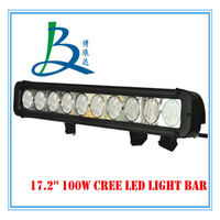 17.2inch 100W high power waterproof led light bar