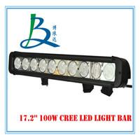 17.2inch 100W high power waterproof led light bar
