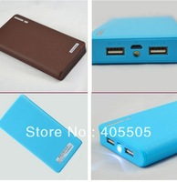 Wallet style power bank 20000mah With LED Lighting Power Bank External Battery Pack for iphone samsung htc ipad free shipping