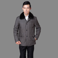 Hot-selling baby 2013 male business casual down clothing male down coat rex rabbit hair