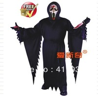 1 set Halloween costume party dress Clothing male movie scream ghost  death ghosts.gods.bleed mask .blood knife