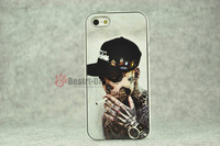 1pcs, Skull Tattoo Man With Retail packing, PC+TPU Skin Cover Case for iphone 5/5S, Best for iphone 5S Case, New Look