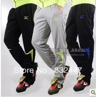 Free shipping with brand logo trousers legs pants Autumn winter football training outdoor sport pants balck red green HOT3112
