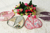 Heart quilting 100% thickening cotton oven mitts love microwave oven gloves