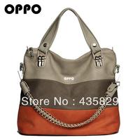 For oppo  2014 color block decoration women's casual handbag portable one shoulder cross-body  vintage totes handbags