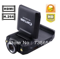 "5 pcs FEDEX Free shipping K2000 Car DVR Camera Recorder HD1080P 140 degree lens with 180 degree rotatinging 2.0"" LCD"