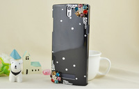 Luxury Bling Colorful Flowers Crystal Diamond hard Case for OPPO Find 5 X909 X909T Rhinestone Case