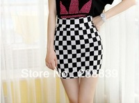 2013 Hot High Quality  candy color colored stretch skirt package hip skirt step skirt  women's cotton clothes Free Shipping