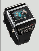 New arrival magic with key press q6 watch mobile phone 130 pixels qq e-book reading