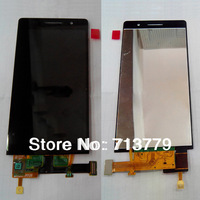 for Huawei Ascend P6 lcd display+touch screen digitizer assembly original black (1pc) free shipping
