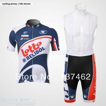 2012 lotto team sport men free shipping short sleeve cycling wear +bib shorts suits