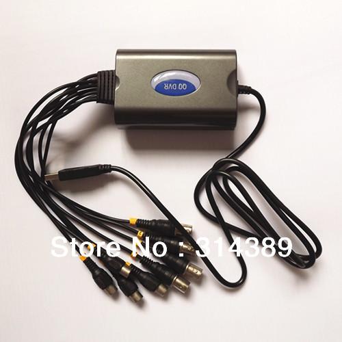 4 ch reale- tempo Full d1 anteprima e registrare compressione hardware usb video capture+ 4 canali audio 4 canali cctv telecamera di sicurezza per PC/tv