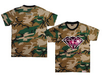 Camo Diamond supply co T-Shirts fashion short sleeve Round Neck Brand Men's Casual Clothing 100% cotton hot sell free shipping