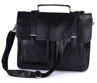 2013 quality man bag first layer of cowhide genuine leather laptop bag briefcase handbag commercial