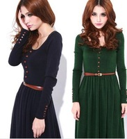 2013 New Arrival Ladies Fine-knit  Dress  100%Acrylic