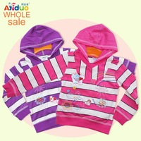 2013-2014 Girls Fall shirts baby girls' hoodies sweatshirt child cotton hood outerwear with emb butterfly 6pcs/lot