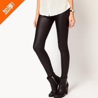 Plus velvet thickening thermal ! matt faux leather high waist pants legging bsk fashion autumn and winter