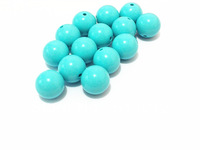 Newest ! 20MM 100pcs/lot Turquoise Acrylic Solid Beads,Chunky Necklace Beads,Acrylic Solid Beads