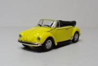 schuco 1:87 VW Beetle Convertible Diecast car models Yellow