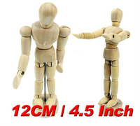 Factory Price Limited 100 pcs Free Shipping 12cm Flexible Schima Human Wooden Puppet Model Figure