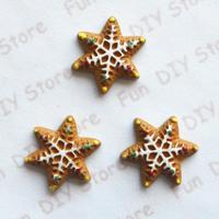 20mm resin kawaii Chirstmas snowflake flat back cabochon for decoration free shipping 50pcs/lot
