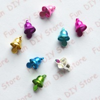8*14mm resin Chirstmas bell small charm for decoration free shipping 200pcs/lot