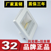 COB 1.5W LED Corner Wall Lamp 85-265V LED Footlight Embedded LED COB Stair Wall Lighting Free Shipping