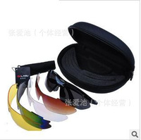 Wholesale bullet proof glasses riding glasses safety goggles wind mirror sunglasses five pieces
