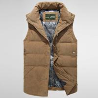 Free shipping 2014 men Winter fashion brand down vest male vest male autumn and winter casual vest