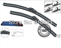 """2PCS RAIN DUST STROM REPEL U STYLE HOOKED ARM FIT FOR CAR WIPER BLADE  KALOS 2005-2009 22""""+16"""""""