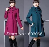 Hot Sale Women's Fashion coat/Jacket/ Lady's coat/Lady's jacket/ Winter coat M-XXL black,rose red,grey and blue