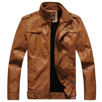 Autumn and winter leather clothing male 2013 stand collar male plus velvet outerwear motorcycle PU leather jacket short design