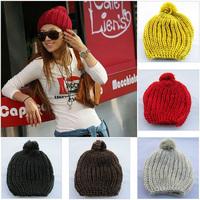 Fashion 2013 Hot Sale Women Winter Hats Beanie Crochet Casual Hat Skull Ball Cap Ski Knit Warm Outdoor Casual Hat Free Shipping