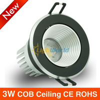 6 pcs High Brigh 3w LED COB Ceiling light  Cool White/Warm White  AC85-265V lamp Lighting CE ROHS