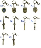 Free Shipping Best Selling Legend Of Zelda Weapon Keychain 10Styles Anime Christmas Gift for Kids Brinquedos