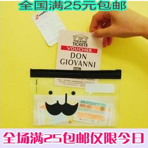 Multi purpose storage transparent sachemic stationery bags fresh pencil 272 1015(China (Mainland))