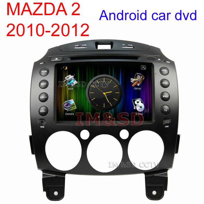 Android 4.0 Car DVD MAZDA 2 2010-2012 with GPS 3G, WIFI ,Bluetooth,Ipod,Radio,TV Fedex(China (Mainland))