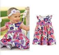 2013 summer New 5pcs/lot Children's clothing baby girls clothes kids tutu dress girl dress with flower High quality
